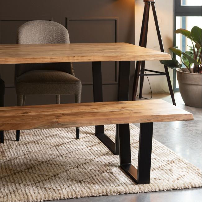 Aka - Table à manger en bois et métal 220x90cm