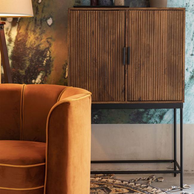 Saroo - Buffet 2 portes en bois et métal