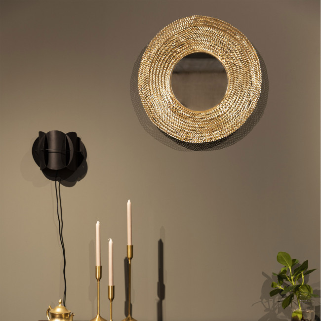 Gauri - Miroir rond en métal ø60cm