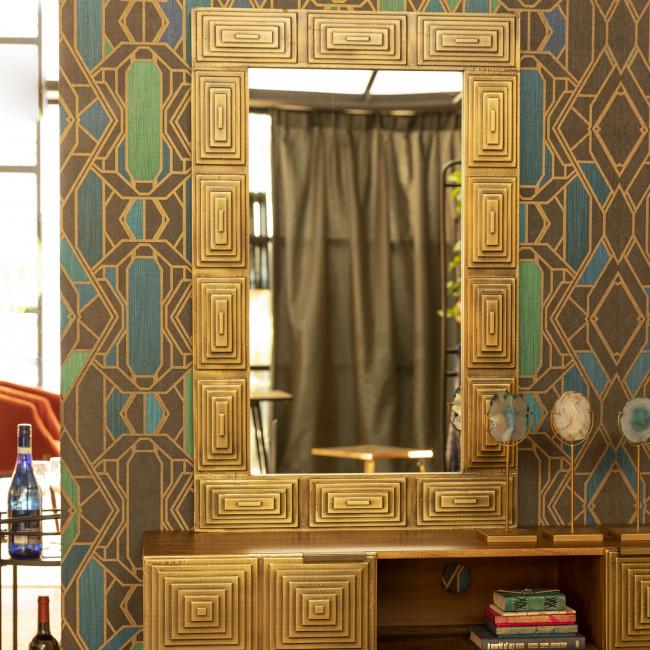 Volan - Miroir rectangle en bois 110x70cm
