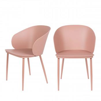 Gigi - 2 chaises en résine et métal