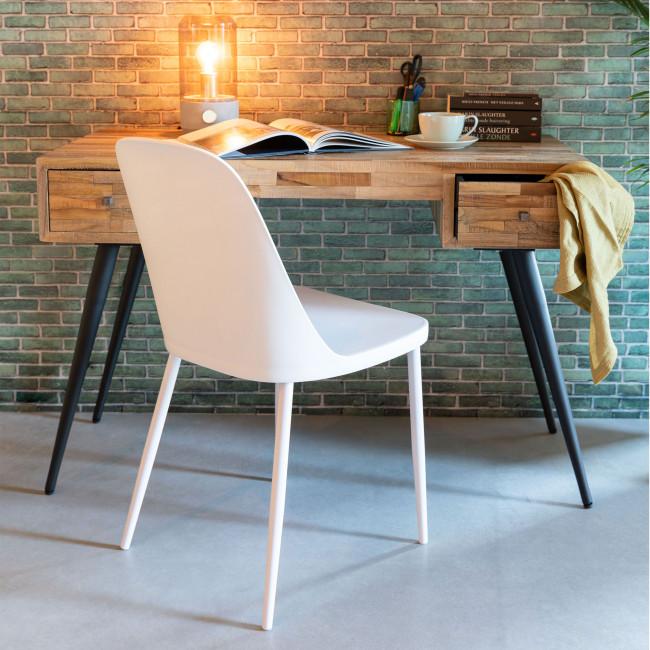 Pip - 2 chaises en résine et métal