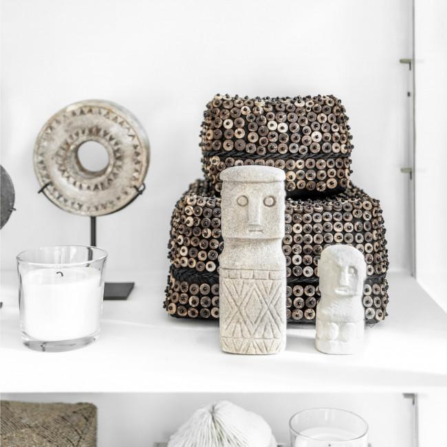 Sumba Stone man - Statuette en grès H10cm