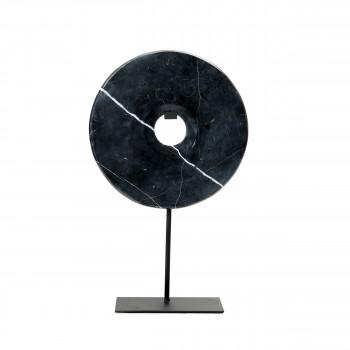 Marble Disc on stand - Statuette en marbre H40cm