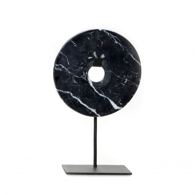 Marble Disc on stand - Statuette en marbre H35cm