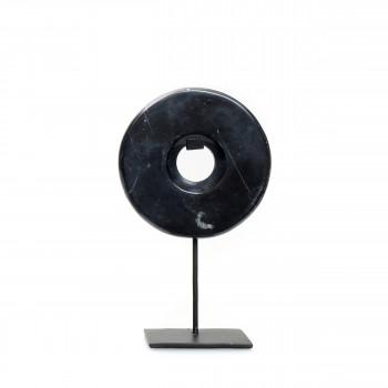 Marble Disc on stand - Statuette en marbre H25cm
