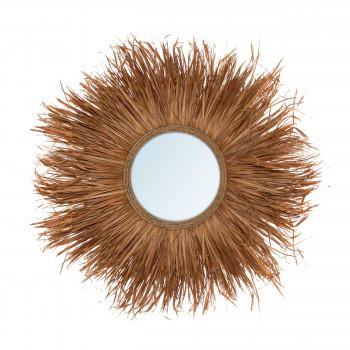 Grass - Miroir rond en fibre naturelle ø100cm