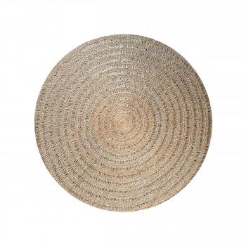 Seagrass - Tapis rond en fibre naturelle