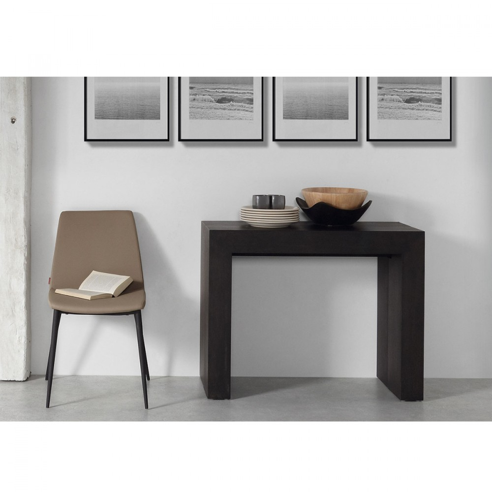 Console extensible laqu e blanche penta by - Console qui se transforme en table ...