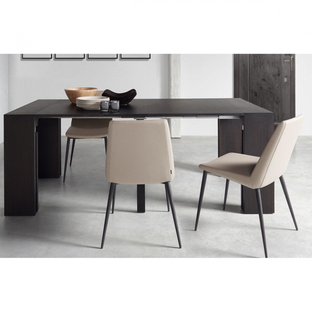 Console extensible laqu e blanche penta by for Sofa table under 200