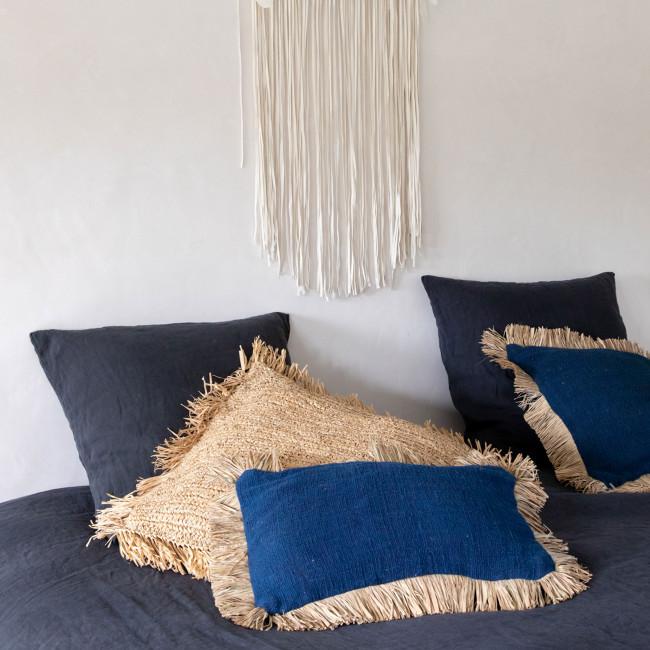 Saint Tropez - Coussin en coton et fibre naturelle 30x50cm