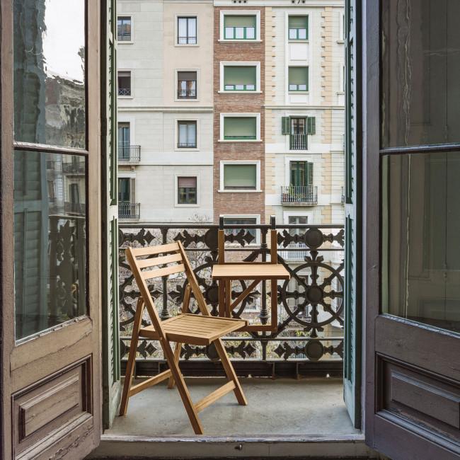 Amarilis - Table à manger de jardin pliante en bois 40x40cm