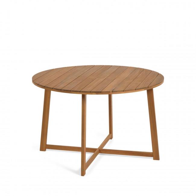 Dafna - Table à manger de jardin ronde en bois ø120cm
