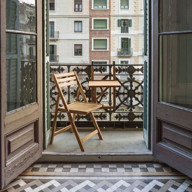 Daliana - 2 chaises de jardin pliantes en bois