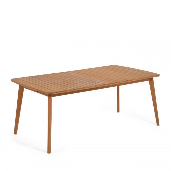 Hanzel - Table à manger de jardin extensible en bois