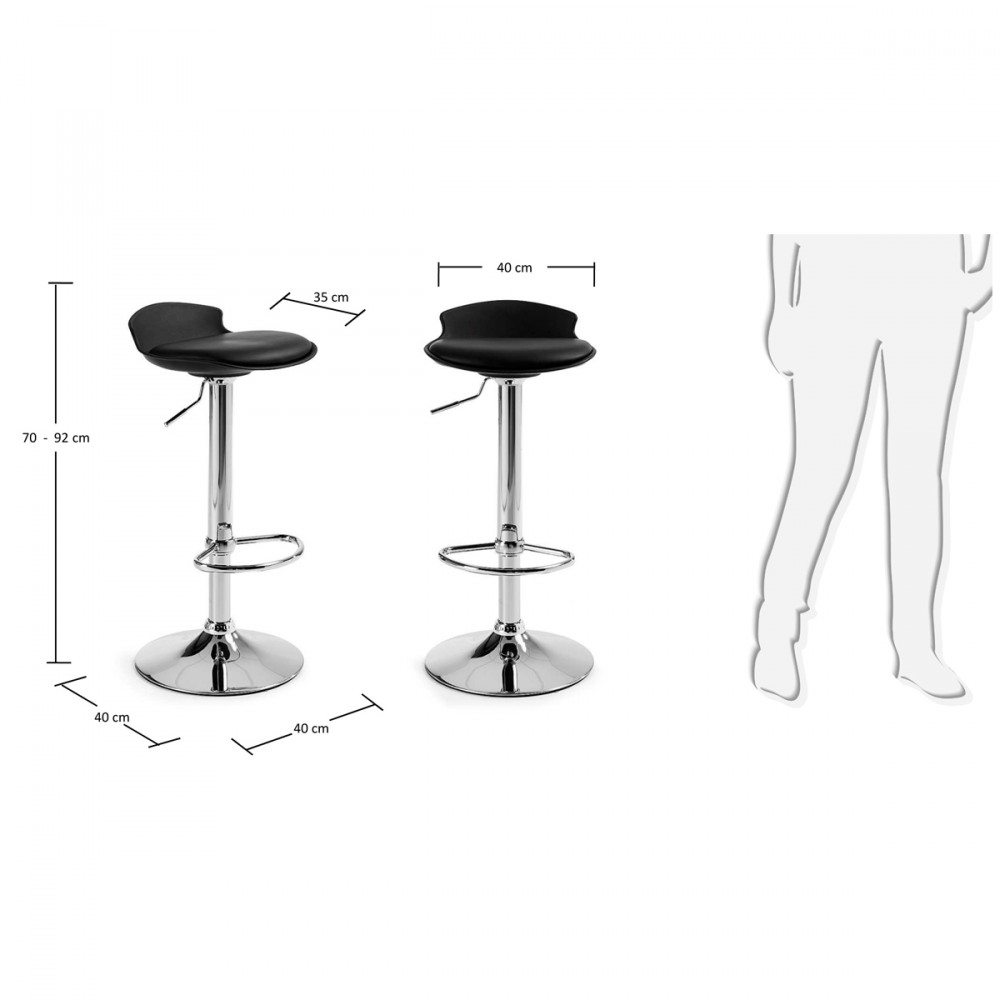 Lot de 2 tabourets de bar design uma one by - Lot 2 tabourets de bar ...