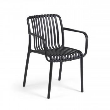 Isabellini - 4 chaises de jardin au design ergonomique