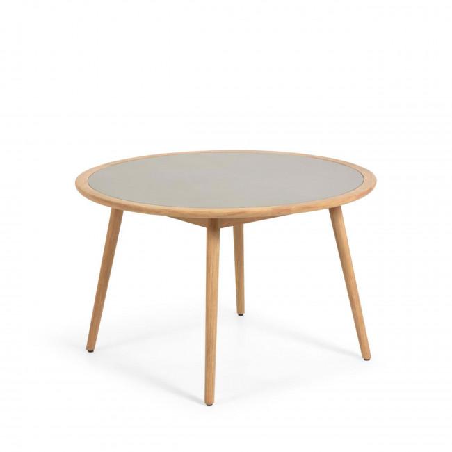 Nina - Table à manger ronde et en bois ø120cm