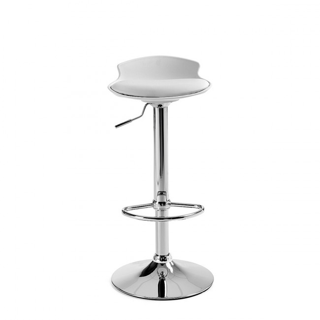 Lot de 2 tabourets de bar design Uma One blanc de face