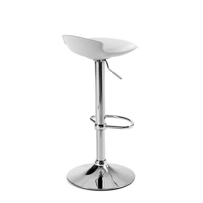 Lot de 2 tabourets de bar design Uma One blanc de dos
