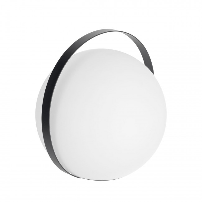 Dinesh - Lampe à poser nomade et ronde avec poignée