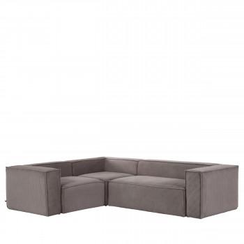 Blok - Canapé d'angle 4 places en velours 320x230cm