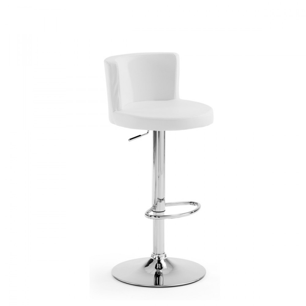 tabouret bar cuir blanc maison design. Black Bedroom Furniture Sets. Home Design Ideas