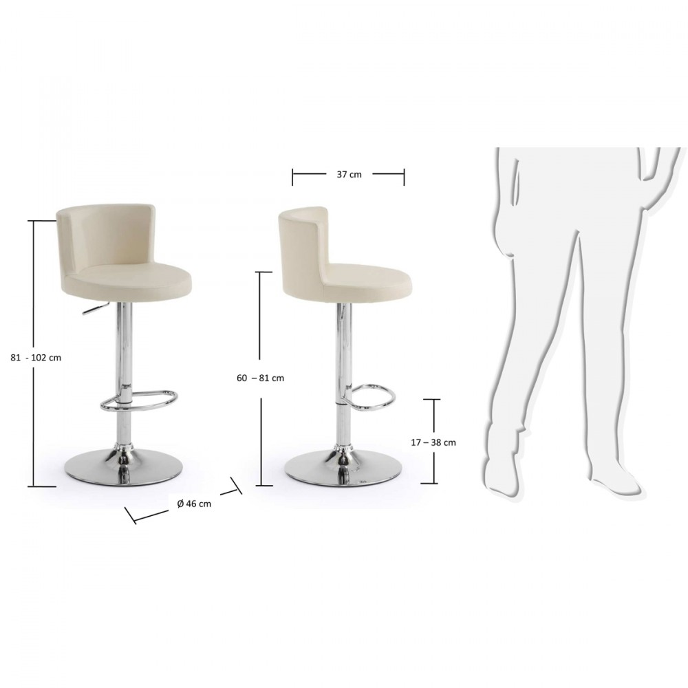 lot de 2 tabourets de bar design antennae by. Black Bedroom Furniture Sets. Home Design Ideas
