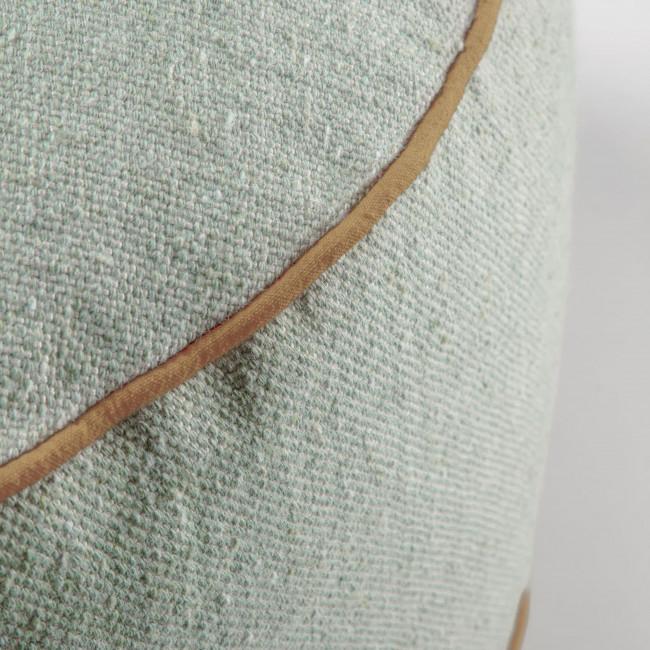 Dalila - pouf extérieur rond en tissu 100 % PET