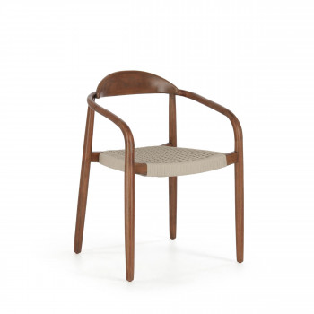 Nina - 4 chaises en eucalyptus et corde