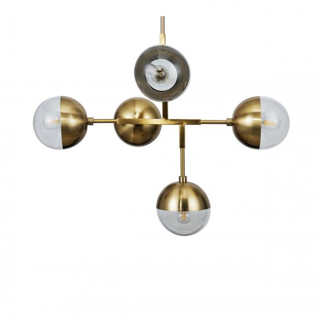 Globular - Suspension vintage en métal 5 ampoules
