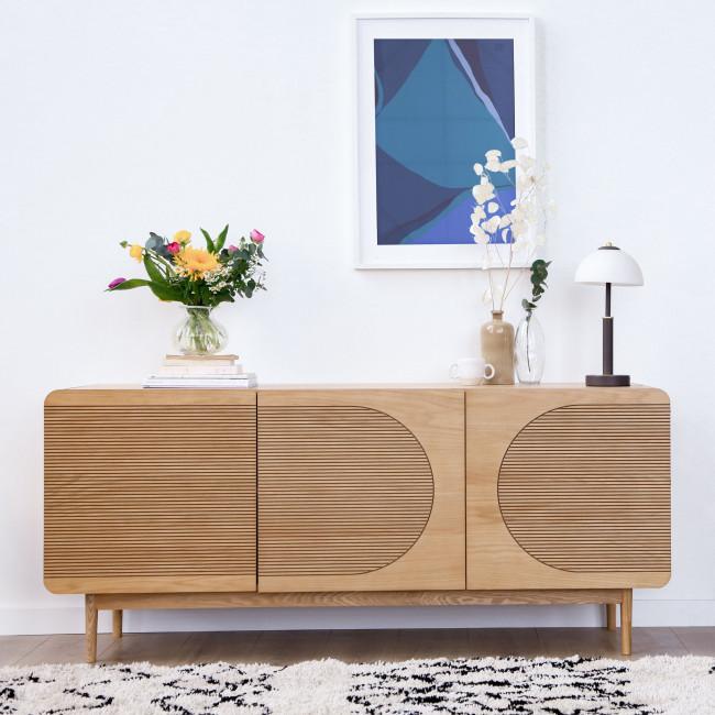 Lumanda - Buffet design 3 portes en bois