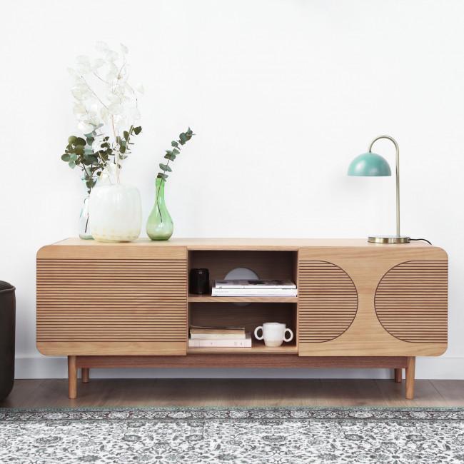 Lumanda - Meuble TV design 2 portes en bois