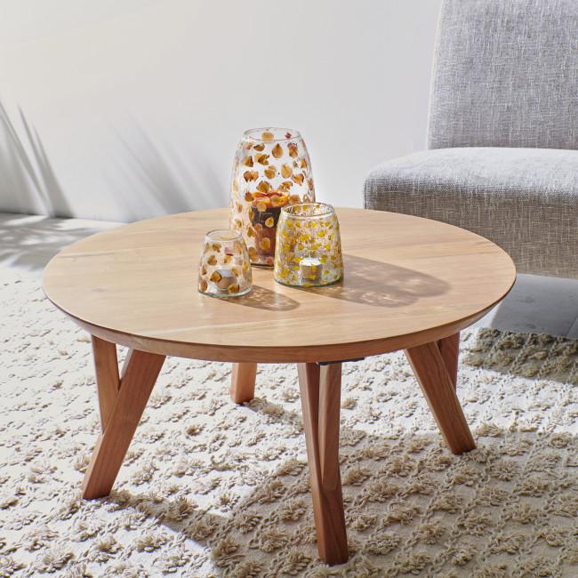 Hopper - Table basse ronde en bois ø80cm