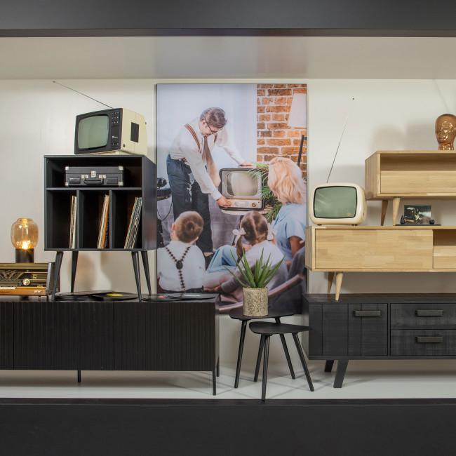 Meuble TV design chêne massif Tygo