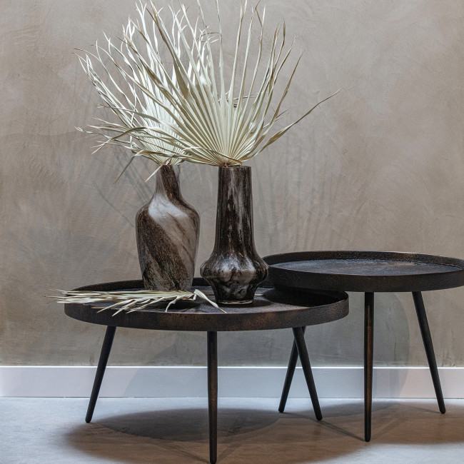 Bounds - Table basse ronde en bois  Ø58cm