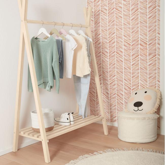 Maralis - Portant à vêtements tipi en bois 148x50cm