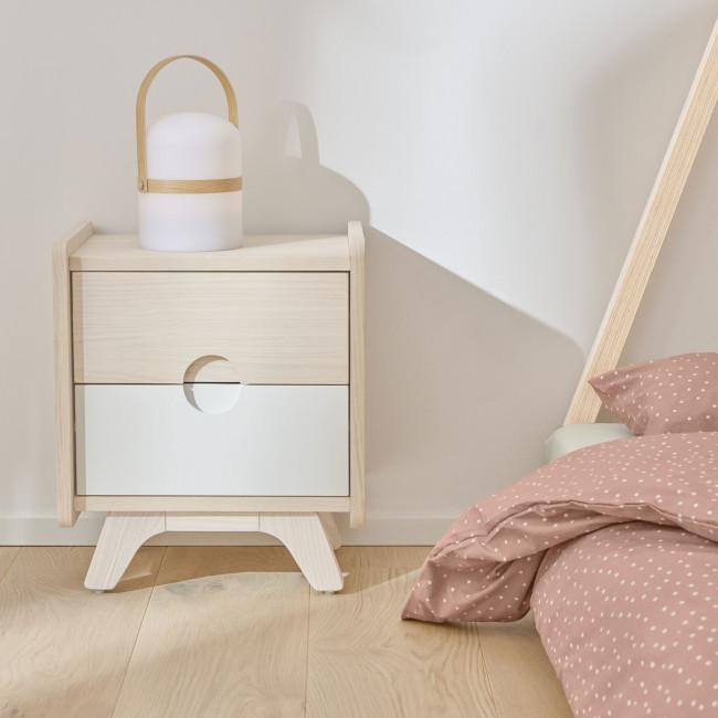 Nunila - Table de chevet en bois 40x47cm