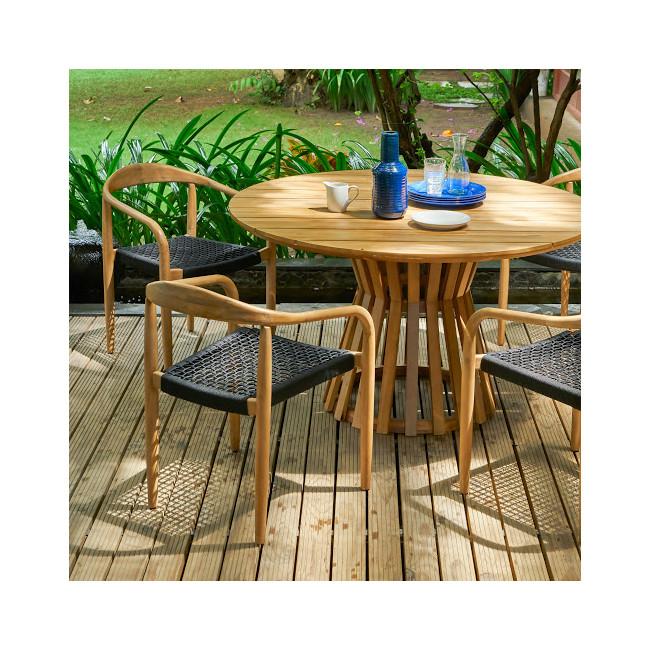 Andong - Table à manger indoor/outdoor ronde en bois ø135cm