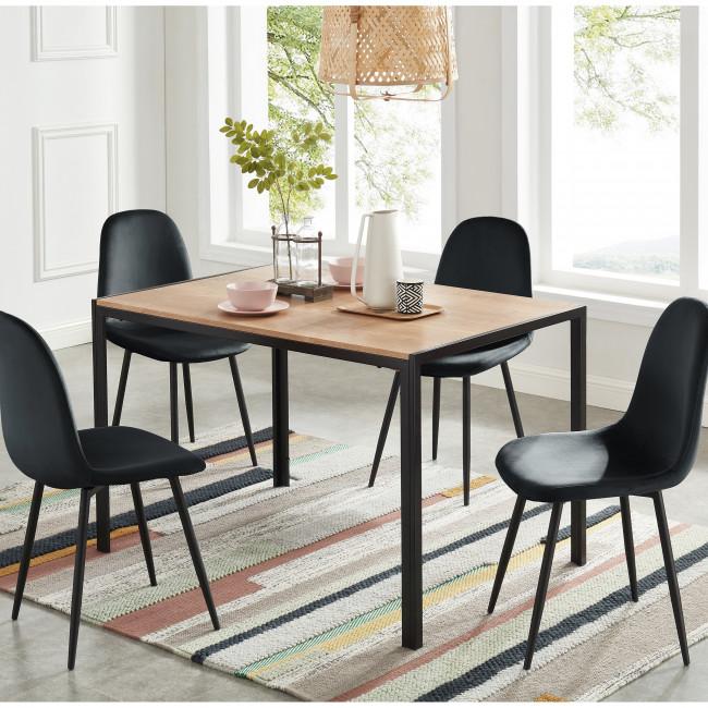 Tuzi - Table à manger en bois et métal 120 x 80 cm
