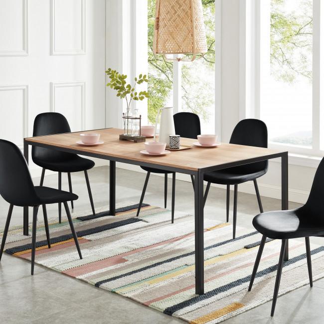 Tuzi - Table à manger en bois et métal 180 x 90 cm