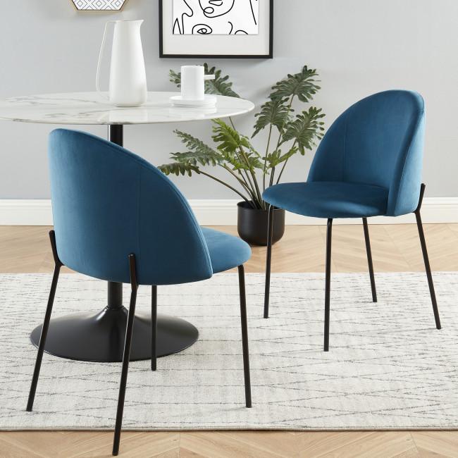Slana - 2 chaises en velours