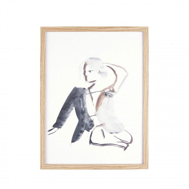 Diva - Affiche encadrée en bois