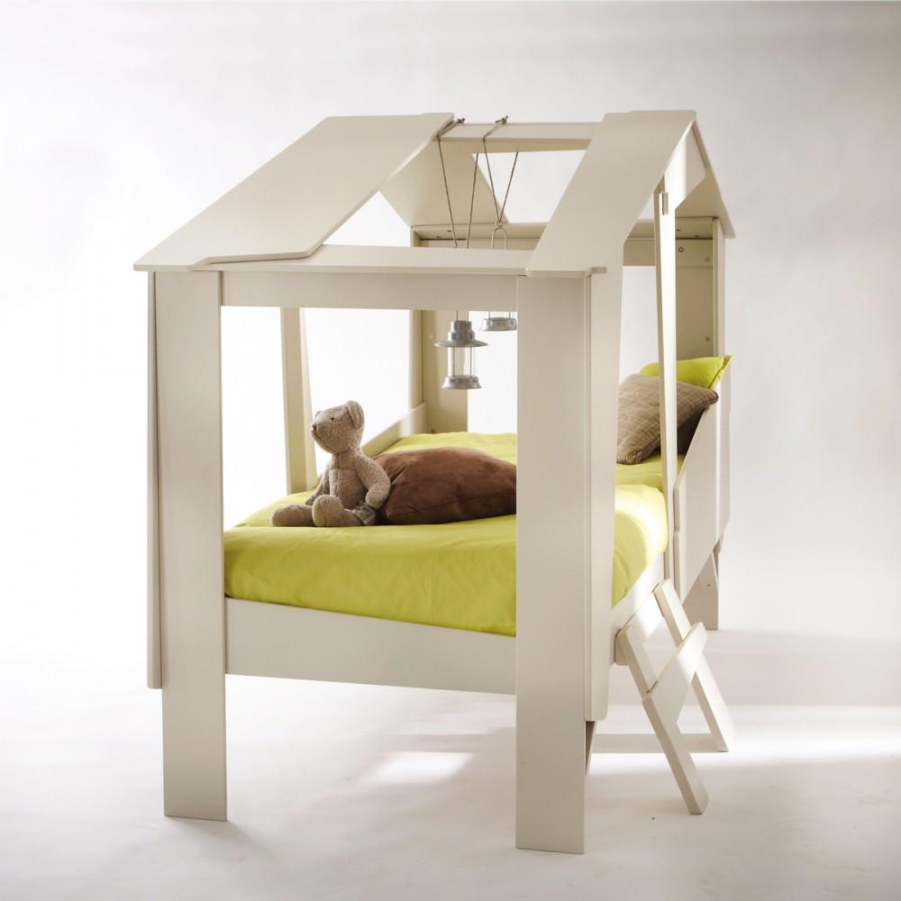 lit cabane enfant en bois par drawer. Black Bedroom Furniture Sets. Home Design Ideas