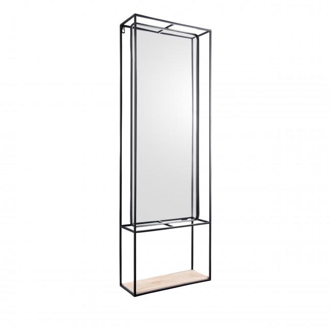 Glance - Miroir rectangulaire en métal noir