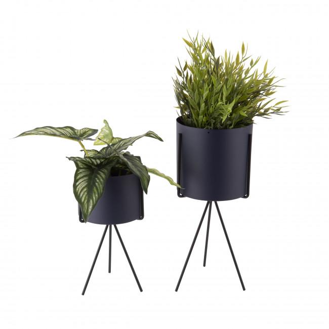 Pedestal - 2 cache-pots rond en métal