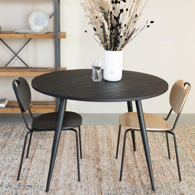 Aspen - 2 chaises en bois et métal