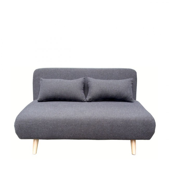 c859c5399e6 ... Canapé convertible scandinave 2 places John gris anthracite de face ...