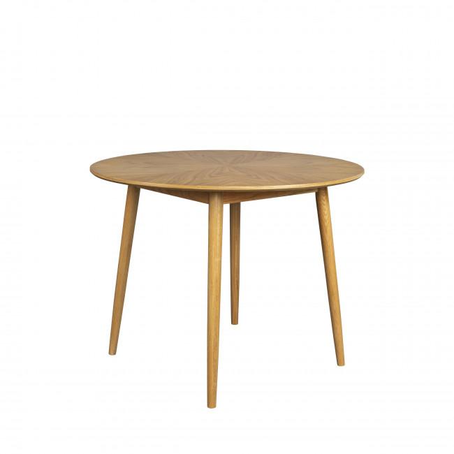 Fabio - Table à manger ronde en bois ø120cm