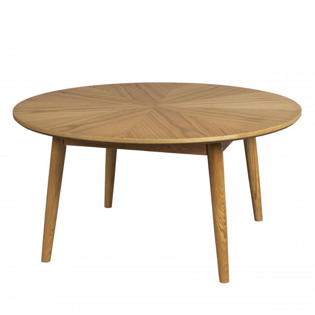 Fabio - Table basse d'appoint ronde en bois ø80cm